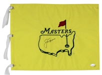 Jack Nicklaus Signed Undated Masters Pin Flag (JSA)