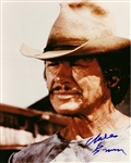 "Charles Bronson In-Person Signed 8"" x 10"" Photograph with Photo Proof (Beckett/BAS Guaranteed)"