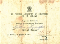 Che Guevara Rare Signed 1961 Cuban Document (Beckett/BAS)