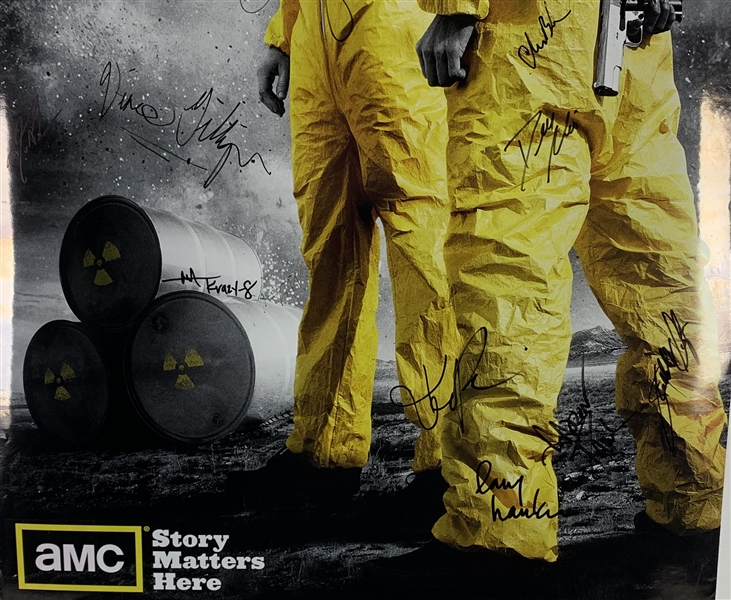 Breaking Bad Cast Signed 36 x 24 Promotional TV Poster (Beckett/BAS Guaranteed)