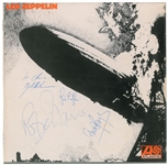 AMAZING Led Zeppelin I Complete Group Signed Record Album - One of the Finest Zeppelin Signed Albums in Existence! (Beckett/BAS)