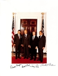 "Four Presidents Multi-Signed Near-Mint 11"" x 14"" Photograph w/ Reagan, Nixon, Carter & Ford! (Beckett/BAS)"