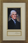 President Thomas Jefferson Superb Signed Document Segment in Framed Display (Beckett/BAS)