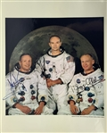 "Apollo 11 Amazing Crew Signed Over-Sized 16"" x 20"" Color NASA Photograph w/ Armstrong, Aldrin & Collins (Beckett/BAS)"