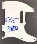 CSN: Graham Nash & Stephen Stills Dual Signed Telecaster Electric Guitar Pickguard (John Brennan Collection)(Beckett/BAS Guaranteed)
