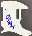 Grease: Olivia Newton-John & John Travolta Dual Signed Telecaster Style Guitar Pickguard (John Brennan Collection)(Beckett/BAS Guaranteed)