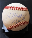 Milton Berle In-Person Signed OAL Baseball with Signing Photo (Beckett/BAS Guaranteed)