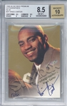 Vince Carter Signed 1998 Skybox Premium Autographics Blue /50 Rookie Card Beckett/BGS 8.5 w/ 10 Auto!