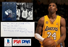 Kobe Bryant Incredible Signed 1992 Middle School Yearbook with Prophetic Lakers Inscription Reference! (Beckett/BAS & PSA/DNA LOAs)