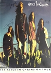 "Alice in Chains RARE Group Signed 24"" x 36"" Promotional Poster with Layne Staley (4 Sigs)(JSA LOA)"