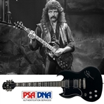 Black Sabbath: Tony Iommi ULTRA RARE Signed Left-Handed Gibson Epiphone Personal Model Guitar (PSA/DNA)