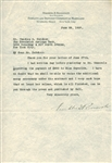 Franklin D. Roosevelt Signed 1927 Typed Letter (Beckett/BAS)