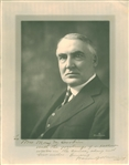 "President Warren G. Harding Signed Over-Sized 10"" x 13"" Photograph (Beckett/BAS)"