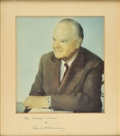 "President Herbert Hoover ULTRA-RARE Signed Over-Sized 13"" x 15"" COLOR Photograph (Beckett/BAS Guaranteed)"