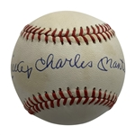 "Mickey Mantle Signed OAL Baseball w/ Full ""Mickey Charles Mantle"" Autograph (PSA/DNA)"