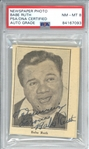 "Babe Ruth Near-Mint Signed 2.5"" x 3.5"" Smiling Newspaper Photograph (PSA/DNA 8)"