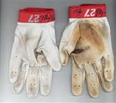 Mike Trout Game Used & Signed 2015 Angels Nike Vapor Batting Gloves (Anderson Authentics & JSA)