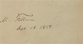 "President Millard Fillmore Signed & Dated 3"" x 5"" Cut (Beckett/BAS Guaranteed)"