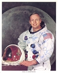 "Apollo 11: Neil Armstrong Signed & Inscribed 8"" x 10"" Official NASA Portrait Photo (PSA/DNA)"