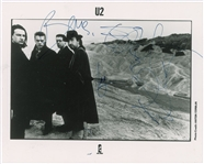 "U2 Spectacular Group Signed 8"" x 10"" Promotional ""Joshua Tree"" Photograph w/ All Four Members! (JSA & REAL/Epperson)"
