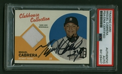 Miguel Cabrera Signed 2012 Topps Heritage Clubhouse Collection Baseball Card (PSA/DNA)