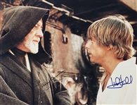 "A New Hope: Sir Alec Guinness & Mark Hamill ULTRA RARE Dual Signed 11"" x 14"" Postcard Photo (Beckett/BAS Guaranteed)(Steve Grad Collection)"