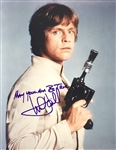 "Mark Hamill Signed 8"" x 10"" Color Photo with Uncommon ""May Your Aim Be True"" Inscription (Beckett/BAS Guaranteed)(Steve Grad Collection)"