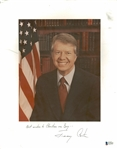 "Jimmy Carter Signed 11"" x 14"" Photograph (Beckett/BAS)"