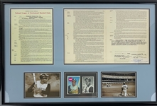 Roberto Clemente Personal 1969 Pirates Contract  (Clemente Estate LOA) W/Cut Signature (Beckett/BAS Guaranteed)