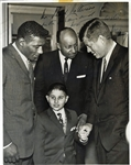 "President John F. Kennedy Signed 7"" x 9"" Photograph Inscribed to Boxing Legend Floyd Patterson! (PSA/DNA)"