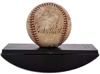 "Babe Ruth & Others Mult-Signed ""Pride of the Yankees"" Baseball Gifted to Gene Autry (Autry Estate LOA & Beckett/BAS)"