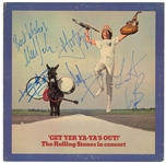 "The Rolling Stones SCARCE Vintage Group Signed ""Get Yer Ya-Yas Out"" Record Album (5 Sigs)(Beckett/BAS Guaranteed)"