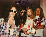"Alice in Chains Rare In-Person Group Signed 8"" x 10"" Color Photo with Layne Staley! (John Brennan Collection)(Beckett/BAS Guaranteed)"