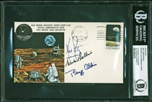 "Apollo 11 Ultra Rare Crew Signed ""Type 1"" Insurance Cover - BAS Graded MINT 9 (Beckett/BAS Encapsulated)"