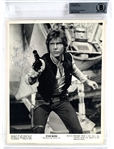 "Harrison Ford Rare Vintage Signed Star Wars 8"" x 10"" Publicity Photo (Beckett/BAS Encapsulated)"