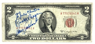 Ronald Reagan & Barry Goldwater Signed 1953 $2 Bill (JSA)
