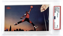 Michael Jordan 1985 Nike Promo Card - PSA Graded MINT 9