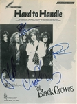 "The Black Crowes Group Signed ""Hard to Handle"" Sheet Music (John Brennan Collection)(Beckett/BAS Guaranteed)"