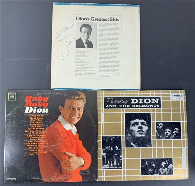 Dion Lot of Three (3) Single Signed Albums (Beckett/BAS Guaranteed)