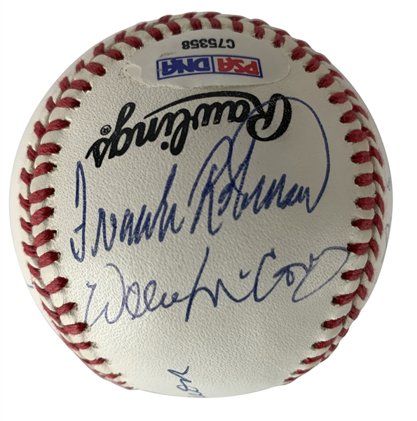 500 Home Run Signed ONL Baseball w/ 10 Signatures! (PSA/DNA)