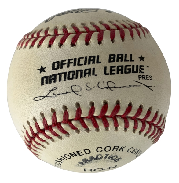 Stan Musial Signed OML Baseball w/ All Century Inscription (Beckett/BAS Guaranteed)