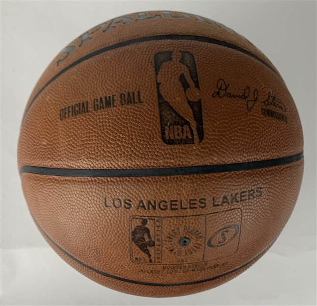 Kobe Bryant Signed & Game Used Championship-Era David Stern Lakers Basketball (Beckett/BAS Guaranteed)
