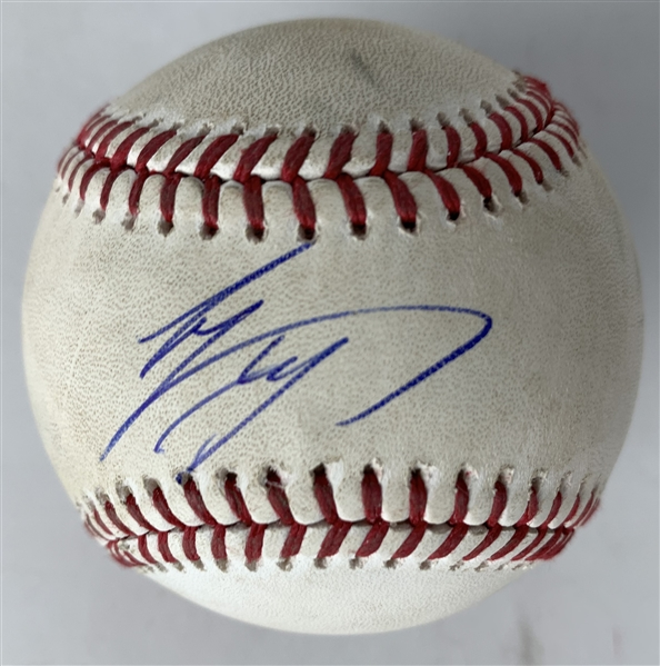 Shohei Ohtani Signed & Game Used 2019 OML Baseball Pitched to Ohtani! (PSA/DNA & MLB)