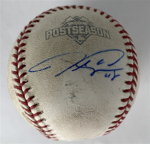 Jacob DeGrom Signed & Game Used Rookie Oct 9th, 2015 NLDS OML Baseball During DeGrom's 1st Playoff Win! (MLB & Beckett/BAS Guaranteed)