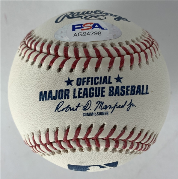 Pete Alonzo Signed OML Baseball (PSA/DNA)