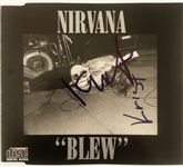 "Nirvana In-Person Signed CD Cover Card for ""Blew"" EP Release (John Brennan Collection)(Beckett/BAS Guaranteed)"