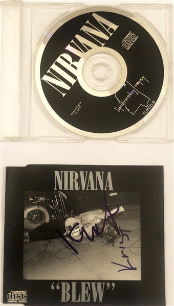 Nirvana In-Person Signed CD Cover Card for Blew EP Release (John Brennan Collection)(Beckett/BAS Guaranteed)
