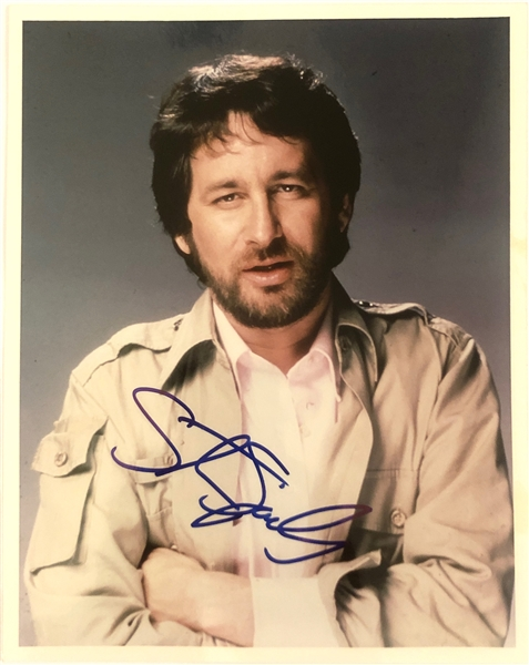 Steven Spielberg In-Person Signed 8 x 10 Color Photo (John Brennan Collection)(Beckett/BAS Guaranteed)