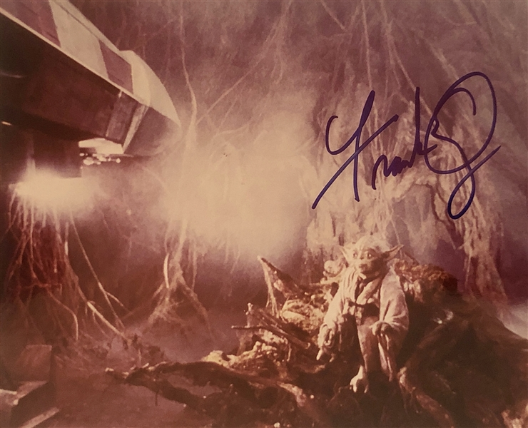 Star Wars: Frank Oz Signed 8 x 10 Color Photo from The Empire Strikes Back (John Brennan Collection)(Beckett/BAS Guaranteed)