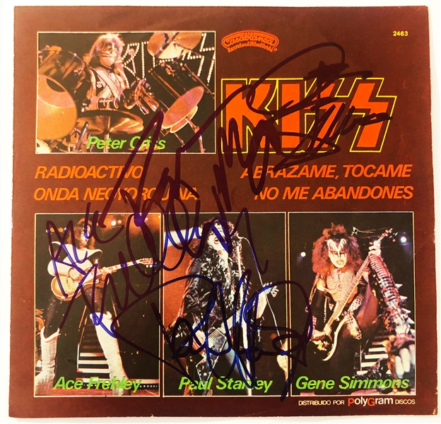 KISS Group Signed Mexican 7-Inch 45 RPM Album Release (John Brennan Collection)(Beckett/BAS Guaranteed)